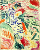 Woman in Japanese Robe beside the Water 1905 - Matisse