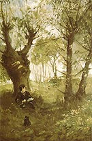 Berthe Morisot Reproduction oil painting of Old Path at Auvers 1863