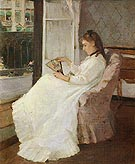 Berthe Morisot Reproduction oil painting of The Artists Sister at a Window 1869