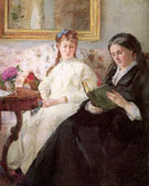 Berthe Morisot Reproduction oil painting of The Mother and Sister of the Artist 1869-70