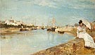 Berthe Morisot Reproduction oil painting of The Harbour at Lorient 1869
