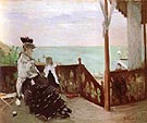 Berthe Morisot Reproduction oil painting of In a Villa at the Seaside 1874