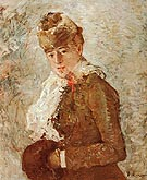 Berthe Morisot Winter Woman with a Muff 1880
