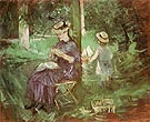 Woman and Child in a Garden 1884 - Berthe Morisot reproduction oil painting