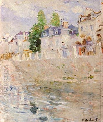 The Quay at Bougival 1883 - Berthe Morisot reproduction oil painting