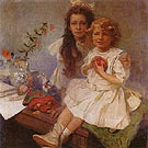 Jaroslava and Jiri the Artist s Children 1919 - Alphonse Mucha