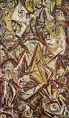 Jackson Pollock Troubled Queen 1945