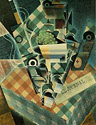 Juan Gris Still Life with Checked Tablecloth 1915