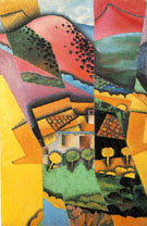 Landscape at Ceret 1913 - Juan Gris