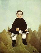 Henri Rousseau Boy on the Rocks