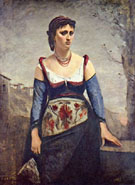 Agostina 1866 - Jean-baptiste Corot reproduction oil painting