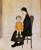 Mother and Child 1956 - L-S-Lowry reproduction oil painting