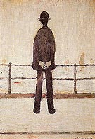 An Old Man and the Sea - L-S-Lowry reproduction oil painting