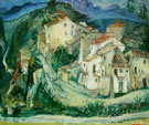 Chaim Soutine View of Cagnes 1924
