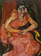 Chaim Soutine Woman in Pink 1924