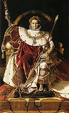 Jean-Auguste-Dominique-Ingres Napoleon I on His Imperial Throne 1806
