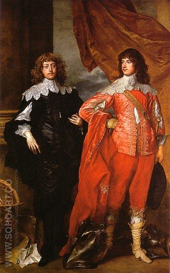 Lord John Stuart and his Brother Lord Bernard Stuart - Van Dyck reproduction oil painting