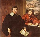 Thomas Wentworth Earl of Strafford with Sir Philip Mainwarin - Van Dyck reproduction oil painting