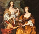 Dorothy Savage Viscountess of Andover and her Sister Elizabeth Lady Thimbleby 1637 - Van Dyck reproduction oil painting
