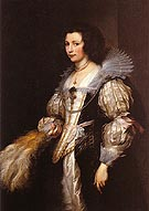 Maria Luigia de Tassis - Van Dyck reproduction oil painting