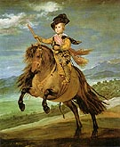 Prince Baltasar Carlos on Horseback 1634 - Diego Velasquez reproduction oil painting