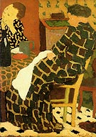 Edouard Vuillard Mother Daughtes c1891