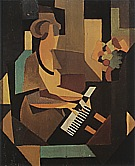 Rene Magrite Georgette at the Piano  1923