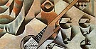 Juan Gris Guitar and Glasses