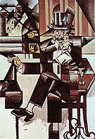 Juan Gris Man in the Cafe 1912