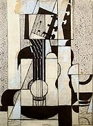 Juan Gris Still Life with Guitar c1912