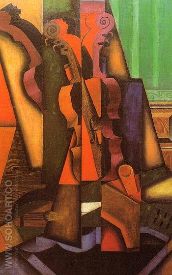 Violin and Guitar Juan Gris reproduction painting for sale