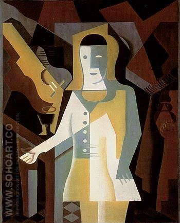 Pierrot 1919 - Juan Gris reproduction oil painting