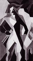 Standing Harlequin Harlequin with a Chair 1919 - Juan Gris