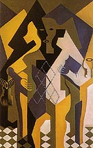 Harlequin at a Table 1919 - Juan Gris