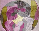 Seated Harlequin 1923 - Juan Gris reproduction oil painting