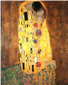 Gustav Klimt The Kiss Portrait Format