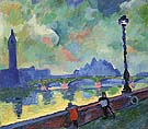 Andre Derain The Thames at Wesminster Bridge 1906