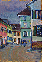 Murnau Top of the Johannisstrasse, 1908 - Wassily Kandinsky