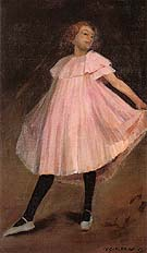 Dancer in Pink Dress 1902 - William Glackens