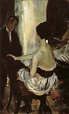 Seated Actress With Mirror 1903 - William Glackens