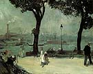 Park on the River 1902 - William Glackens reproduction oil painting