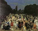 In the Buen Retiro 1906 - William Glackens reproduction oil painting