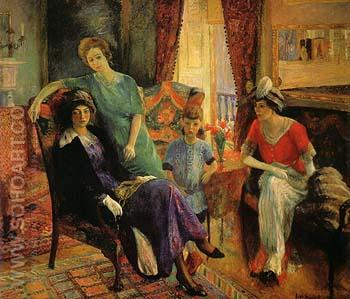 Family Group 1910 - William Glackens reproduction oil painting