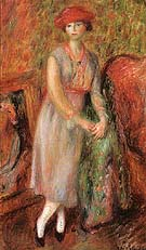 Stand Girl in White Spats 1915 - William Glackens