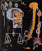 Jean-Michel-Basquiat Untitled Black Skull 1982
