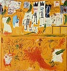Jean-Michel-Basquiat Untitled Yellow Tar and Feathers 1982