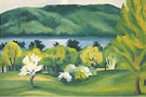 Georgia O'Keeffe Lake George Early Moonrise, Spring 1930