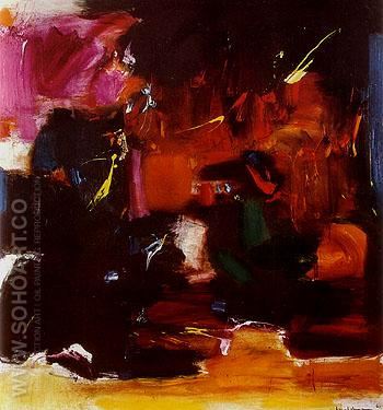 Summer Night Bliss 1961 - Hans Hofmann reproduction oil painting