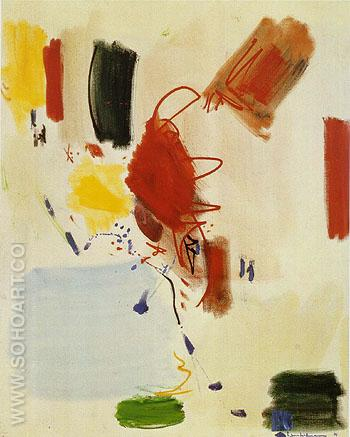 The Voice of the Wind 1961 - Hans Hofmann reproduction oil painting