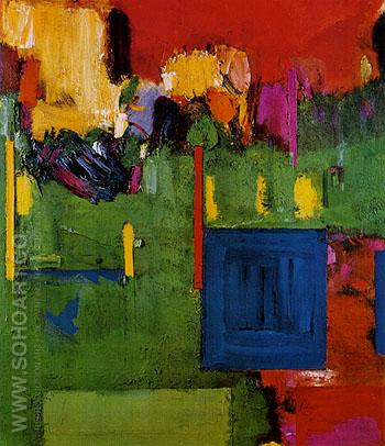 Image of Cape Cod The Pond Country Wellfleet 1961 - Hans Hofmann reproduction oil painting